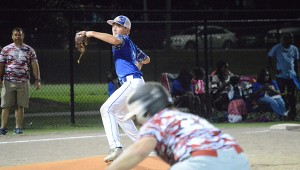 Josh Dutton | Andalusia Star-News East Brewton's Jordan Crane wheels and fires to first for a pick off attempt.