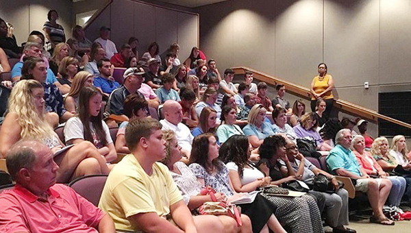 Courtesy photo JDCC incoming freshmen and parents listen to a portion of the day's orientation session Monday.