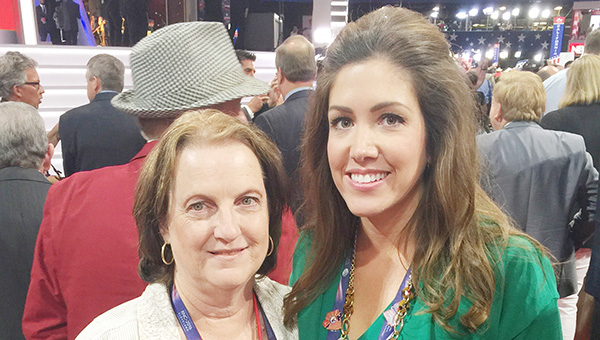 Courtesy photo Brewton was well represented at last week's GOP Convention in Cleveland, Ohio, as natives Jackie Gay and Catherine Crosby Long represented Escambia County and Alabama respectively.