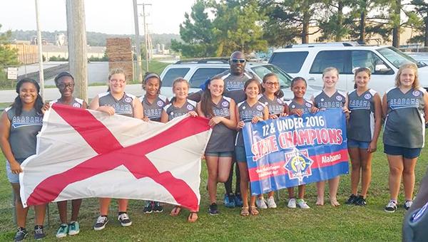 East Brewton 12U Lady Eagles softball team