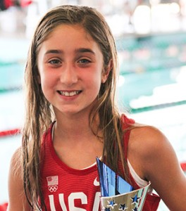 Courtesy photo Kinsley Byrd holds the trophy for high points for the 10 year-old girls group.