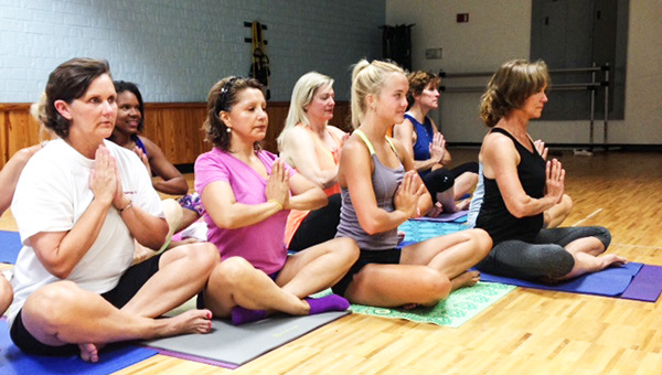 Courtesy photo Hot yoga is a great way to work on flexibility and practice mindfulness.
