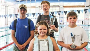 Courtesy photo Colby Morris, Cole Jernigan, Caleb Kent and Callie Kent with awards.