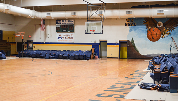 Corey Williams | The Brewton Standard The old gym is in the early process of renovation.