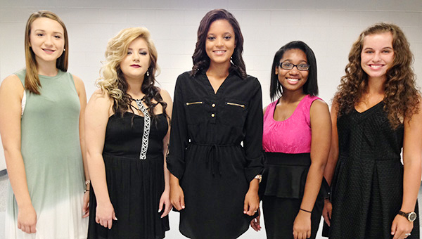 Courtesy photo The 2016 W.S. Neal homecoming court is (center) Kyndra Collins, queen; Katlynn Myers, senior maid; Shana Driskell, freshman maid; Ga'Lina English, junior maid; and, Alexandra Moulder, sophomore maid.