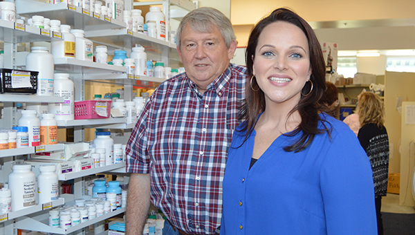 Nicole Burns | The Brewton Standard Brewton Medical Center Pharmacy owner Danny Cottrell and soon-to-be pharmacist Samantha Bell