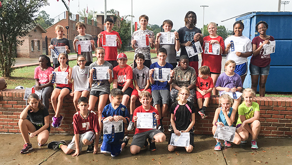 Courtesy photo 2016 Punt, Pass, Kick participants took to the field this past Sunday.