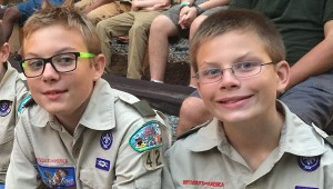 Dean and Jacob Thelen at Camp Sequoya.