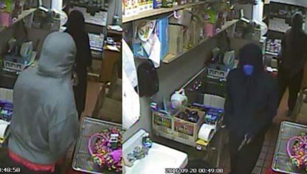 The Flomaton robbers rob the Texaco Station in Flomaton on Sept. 20.