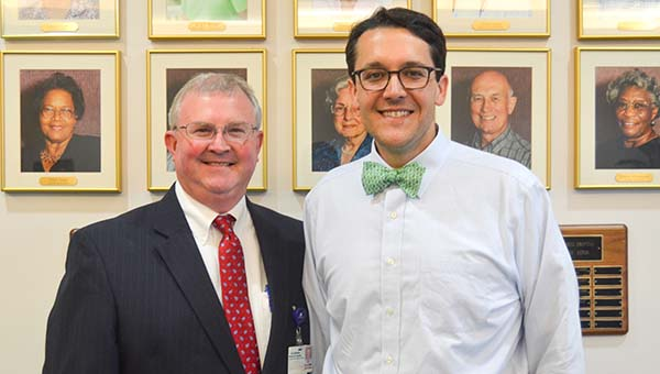 Corey Williams | The Brewton Standard DWMMH recently welcomed oncologist Dr. Greg Harris (right) to the hospital.