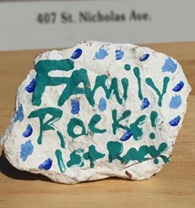 Nicole Burns | The Brewton Standard The rock that started it all in Brewton. Read the clues below, find the rock and win a prize.