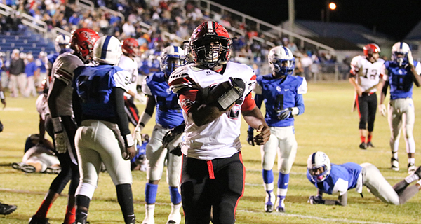 Courtesy photo Campbell rushes for a TD against Clarke County.