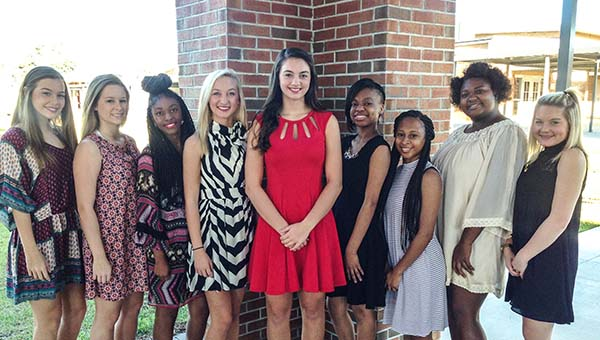 The 2016 TRM Homecoming Court This year's queen is Grace Ruzic. The senior class attendants are Tori Sims and Mi'Esha Straughn. Junior class attendants are Morgan Longmire and Armeshia Williams. Sophomore class attendants are Na'Diyan Smith and Gabbi Solomon. Freshman class attendants are Baleigh Douglas and Mary Paige Madden. Homecoming activities will be held on the TRM campus on Fri., Oct. 7.