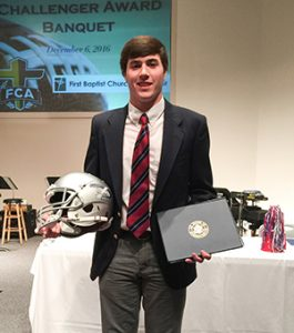 Courtesy photo T.R. Miller senior student-athlete Joshua Winton was recently honored the 2016 Fellowship of Christian Athletes  Challenger Award in Pensacola. Winton will attend Shorter University this upcoming fall.