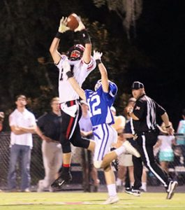 Photo Allison Terrell Booker goes up for a catch against Bayside Academy.