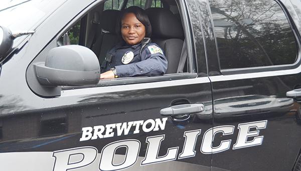 Corey Williams | The Brewton Standard Brenda Lane sits inside her Brewton Police Department patrol vehicle.