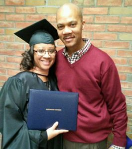 Courtesy photo Keri Wallace is the proud graduate of Northwood University in Midland, Mich. She is pictured with her husband, Maurice.