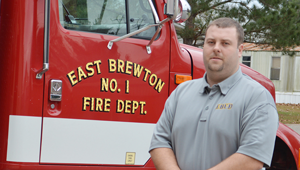 Lydia Grimes | The Brewton Standard Chris Steele works as an East Brewton firefighter.