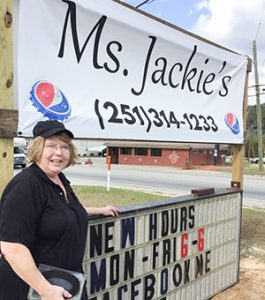 Stephanie Snodgrass | The Brewton Standard Jacke Gaylor founder of Ms. Jackie's has been in the restaurant business since the age of 14. Ms. Jackies is open from 6 a.m. to 6 p.m. Monday through Friday.