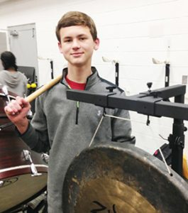 Stephanie Snodgrass | The Brewton Standard Ryder Jernigan with part of the TRM band percussion.