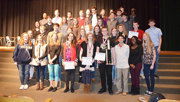 Students from T.R. Miller earned a first place finish at the tournament.