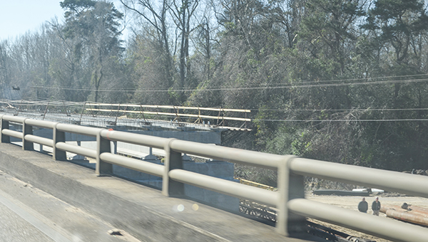 Corey Williams | The Brewton Standard Pictured is the development of a lane on the bridge.
