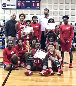 Courtesy photo The T.R, Miller Lady Tigers win back-to-back Christmas tournaments.